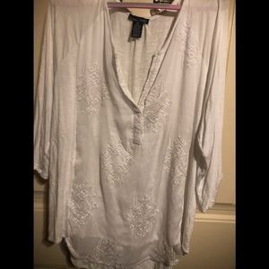 Beautiful white embroidered blouse